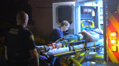 Medics Transporting Person To The Hospital Stock Footage