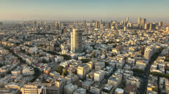 Tel Aviv city sunset time lapse Stock Footage