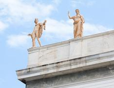 Apollo and Hera in Athens, Greece - stock photo