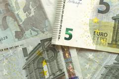 Euro bills - 5 Stock Photos