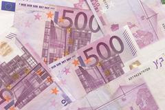 euro bills - 500 - stock photo