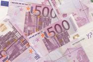 Stock Photo of euro bills - 500
