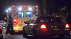 Police Car And Ambulance - stock footage
