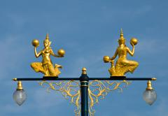 the golden angle in thai traditional style - stock photo