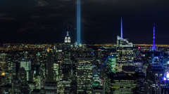 911 Lights in New York City Stock Footage