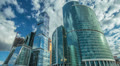 The Moscow sky-scrapers & clouds timelapse,RAW VIDEO: 6K,4K & 1080p resolutions HD Footage