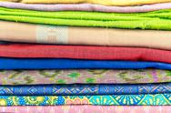 Stock Photo of colorful of  thai silk