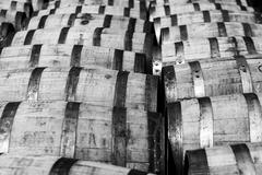 Bourbon barrels Stock Photos
