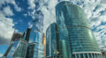 The Moscow sky-scrapers & clouds timelapse,RAW VIDEO: 6K,4K & 1080p resolutions Footage