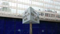 New scotland yard sign, london, england Stock Footage