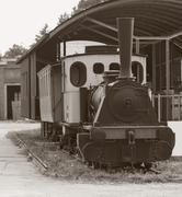 old streetcar - stock photo