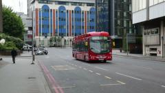 Hydrogen fuel cell powered bus with zero emissions in london, england Stock Footage