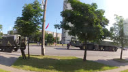Stock Video Footage of Army in the city center. Motion view