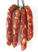 Fatty chinese pork sausages Stock Photos