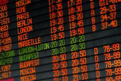 departures and arrivals electronic schedule - stock photo