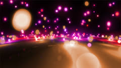 Pink color tone light balls falling Stock Footage
