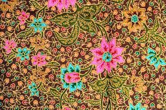 Colorful batik cloth fabric background Stock Photos