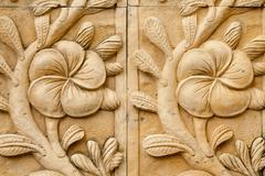 Native molding art on wall in thai style Stock Photos