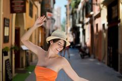 happy female - stock photo