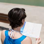 Reading female Stock Photos