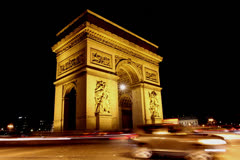 Triumph Arch, Paris. 4K. Stock Footage