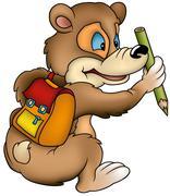 Bear Schoolboy Stock Illustration