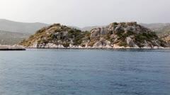 Islands of kekova Stock Footage