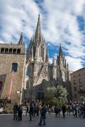 la catedral del mar in barcelona - stock photo