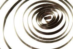 spiral coil spring - stock photo