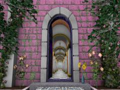 Entrance to a Ballroom in a Castle- Animation Stock Footage