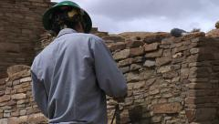 Chetro Ketl Preservation, Chaco Culture Park Stock Footage