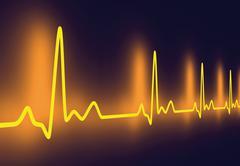 pulse trace. - stock illustration