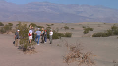 Death Valley Ranger Tour at Sand Dunes Stock Footage