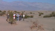 Stock Video Footage of Death Valley Ranger Tour at Sand Dunes