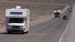 RV at Death Valley National Park 2 , Highway 190 Stock Footage