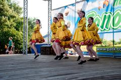 Stock Photo of dance on the ivan kupala day celebration