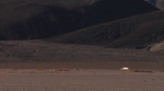 RV In The Distance of Death Valley National Park Stock Footage