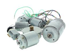 Stock Photo of Mini electric motors