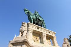 Statue of saint steven i. Stock Photos