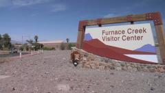Furnace Creek Visitor Center, Death Valley Stock Footage