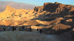 Photographers at Death Valley Zabriskie Point Sunrise Stock Footage
