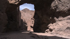 Natural Bridge Canyon, Death Valley National Park Stock Footage
