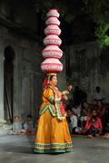 Bhavai performance - famous folk dance of rajasthan Stock Photos