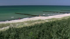 Beautiful Ahrenshoop Beach - Baltic Sea, Northern Germany Stock Footage