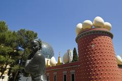 tramuntana statue and dali museum. figueres - stock photo
