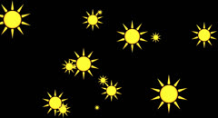 Happy sun Animation+Alpha Channel Stock Footage