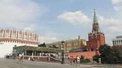 Troitskaya Tower of Moscow Kremlin - stock footage