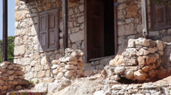 Old stone House Stock Footage