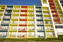 colorful architecture - resort hotel - stock photo