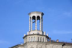 Stock Photo of rotunda on the roof of the building in the citycenter of moscow